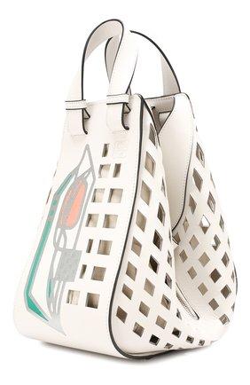 Женская сумка hammock medium LOEWE белого цвета, арт. 387.66XT38   Фото 3