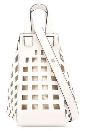 Женская сумка hammock medium LOEWE белого цвета, арт. 387.66XT38   Фото 5