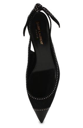 Замшевые туфли Charlotte Saint Laurent черные | Фото №5