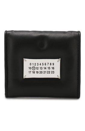 Кожаное портмоне Glam Slam Maison Margiela черного цвета | Фото №1