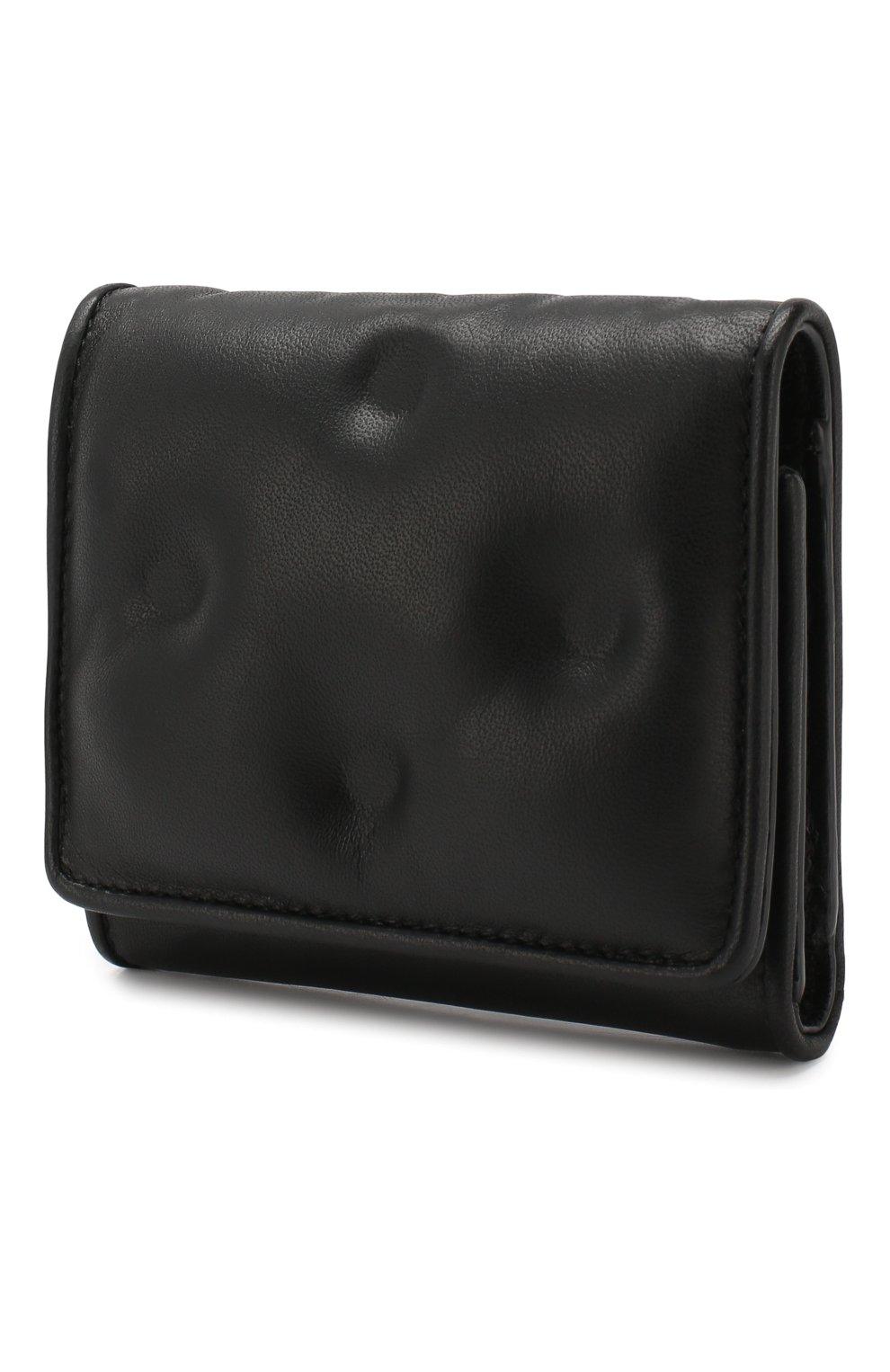 Кожаное портмоне Glam Slam Maison Margiela черного цвета | Фото №2