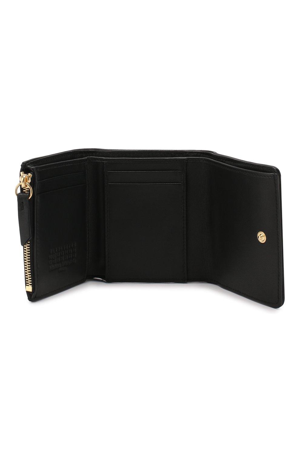 Кожаное портмоне Glam Slam Maison Margiela черного цвета | Фото №3