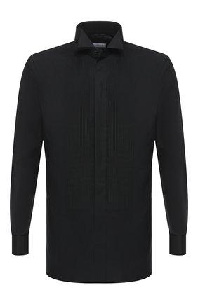 Мужская хлопковая рубашка BRIONI черного цвета, арт. RCC80V/PZ066 | Фото 1