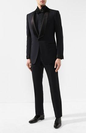 Мужская хлопковая рубашка BRIONI черного цвета, арт. RCC80V/PZ066 | Фото 2