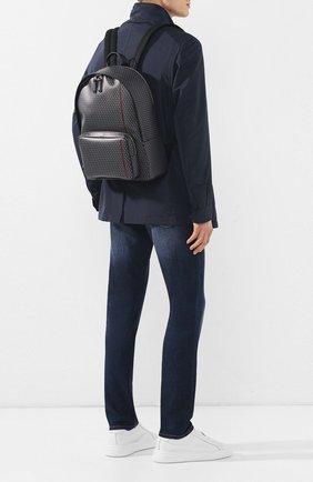 Мужской текстильный рюкзак DUNHILL серого цвета, арт. DU19R3720CC | Фото 2