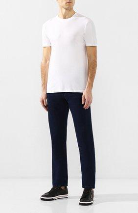 Мужская футболка из вискозы и хлопка TOM FORD белого цвета, арт. BS229/TFJ950   Фото 2