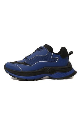 Мужские кожаные кроссовки BERLUTI синего цвета, арт. S4781-002 | Фото 4 (Материал внешний: Текстиль, Кожа; Материал внутренний: Натуральная кожа, Текстиль; Стили: Гранж; Статус проверки: Проверено, Проверена категория; Подошва: Массивная)