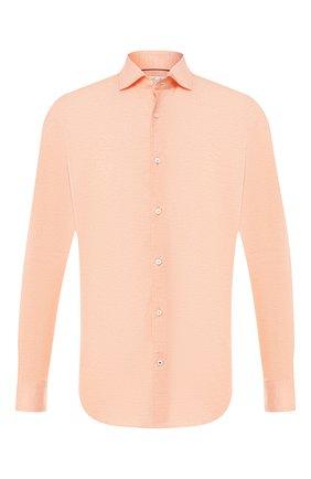 Мужская хлопковая рубашка LORO PIANA оранжевого цвета, арт. FAI5693 | Фото 1