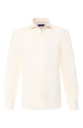 Мужская льняная рубашка RALPH LAUREN белого цвета, арт. 791750046 | Фото 1