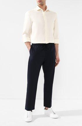 Мужская льняная рубашка RALPH LAUREN белого цвета, арт. 791750046 | Фото 2
