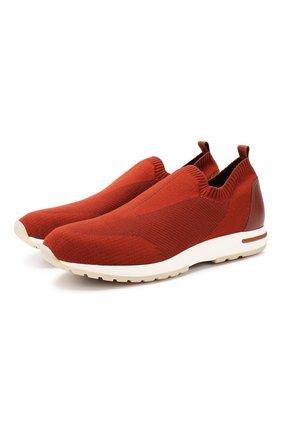 Мужские текстильные кроссовки 360 lp flexy active LORO PIANA оранжевого цвета, арт. FAI4815 | Фото 1