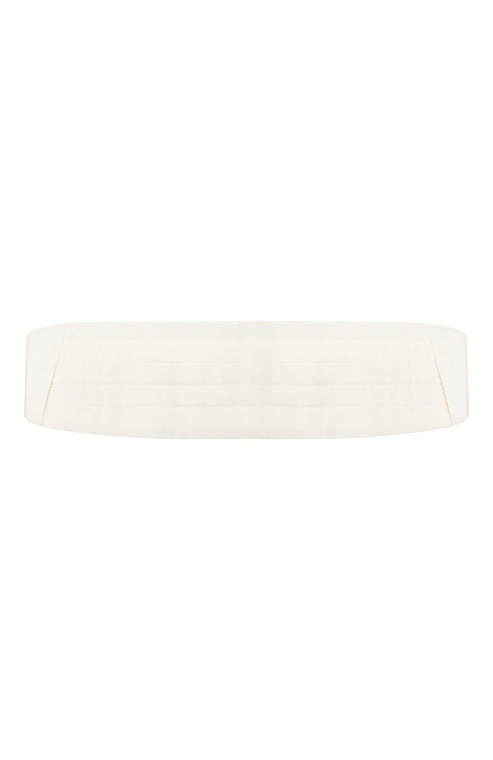 Мужской шелковый камербанд LANVIN белого цвета, арт. 1282/CUMMERBUND | Фото 1