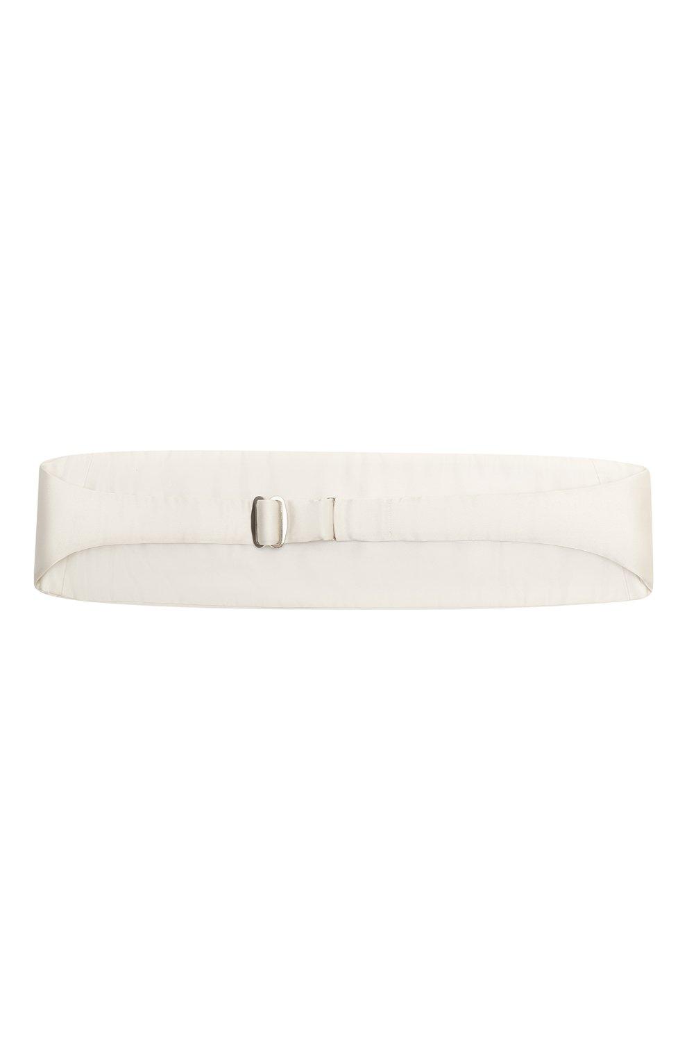 Мужской шелковый камербанд LANVIN белого цвета, арт. 1282/CUMMERBUND | Фото 3