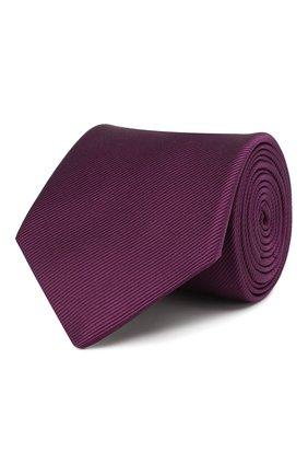 Мужской шелковый галстук LANVIN фиолетового цвета, арт. 1302/TIE | Фото 1