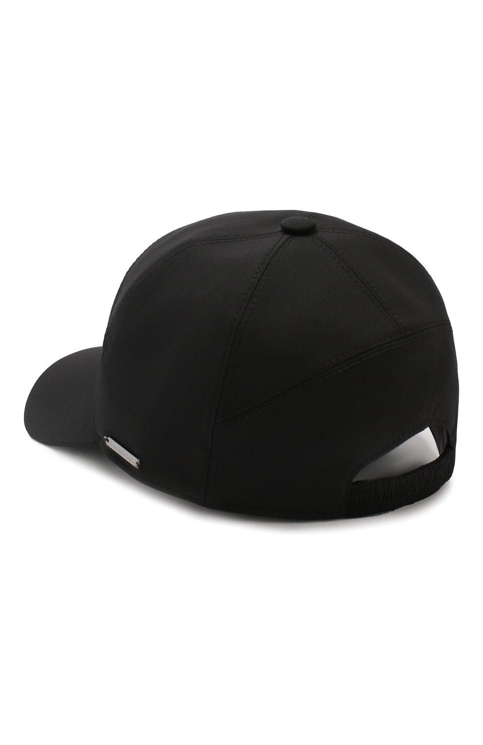 Мужской шерстяная бейсболка ERMENEGILDO ZEGNA черного цвета, арт. Z5I61/B2E | Фото 2