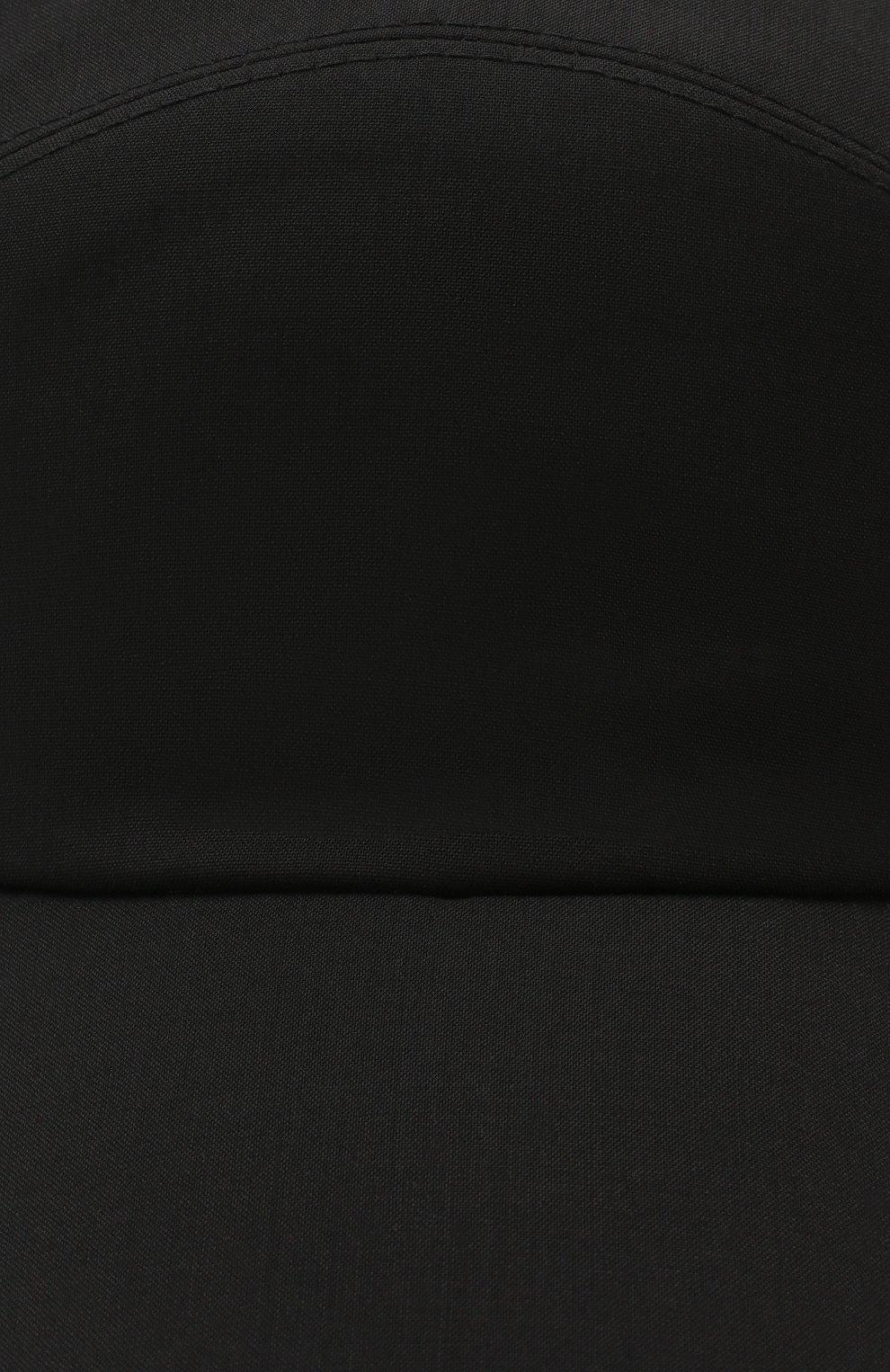 Мужской шерстяная бейсболка ERMENEGILDO ZEGNA черного цвета, арт. Z5I61/B2E | Фото 3