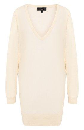 Пуловер из смеси льна и вискозы | Фото №1