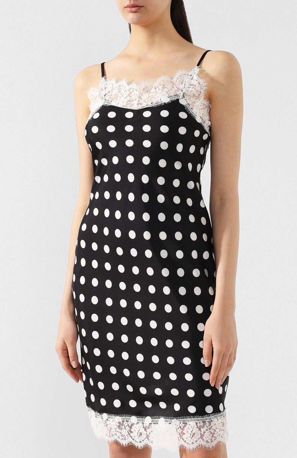 28dcfaf7bc9 Женское черное платье в горох ERMANNO ERMANNO SCERVINO — купить за ...