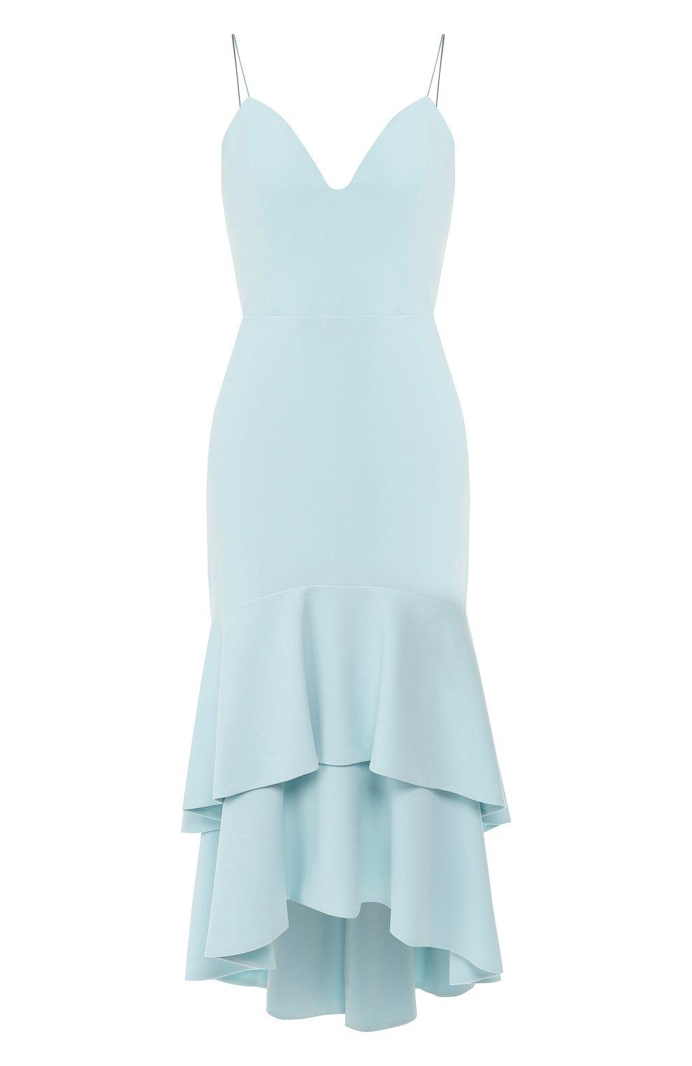 Женское платье с оборками ALICE + OLIVIA голубого цвета, арт. CC902202526 | Фото 1