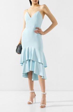 Женское платье с оборками ALICE + OLIVIA голубого цвета, арт. CC902202526 | Фото 2