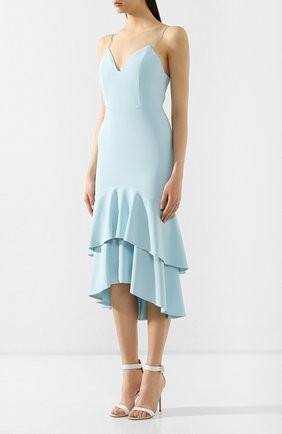Женское платье с оборками ALICE + OLIVIA голубого цвета, арт. CC902202526 | Фото 3