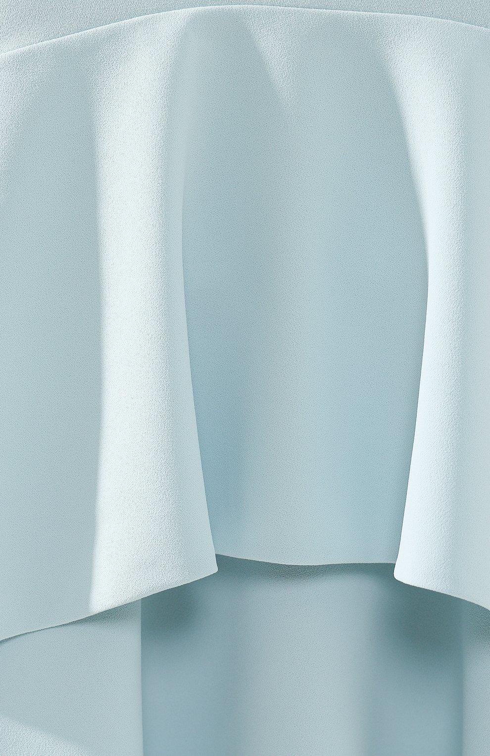 Женское платье с оборками ALICE + OLIVIA голубого цвета, арт. CC902202526 | Фото 5