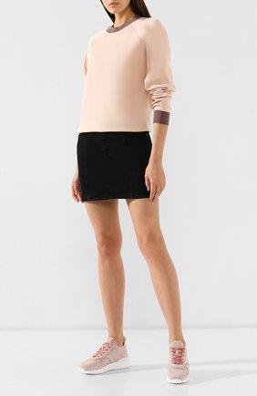 Женские замшевые кроссовки TOD'S светло-розового цвета, арт. XXW80A0W590J9E | Фото 2