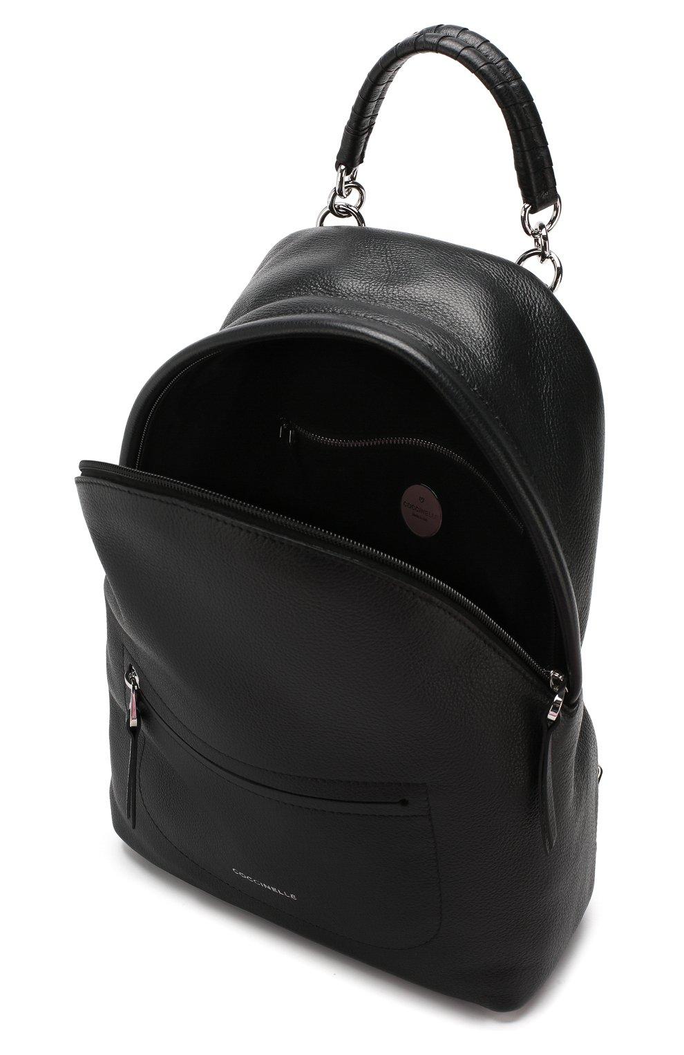 363d33981a84 Женский черный рюкзак leonie COCCINELLE — купить за 25800 руб. в ...