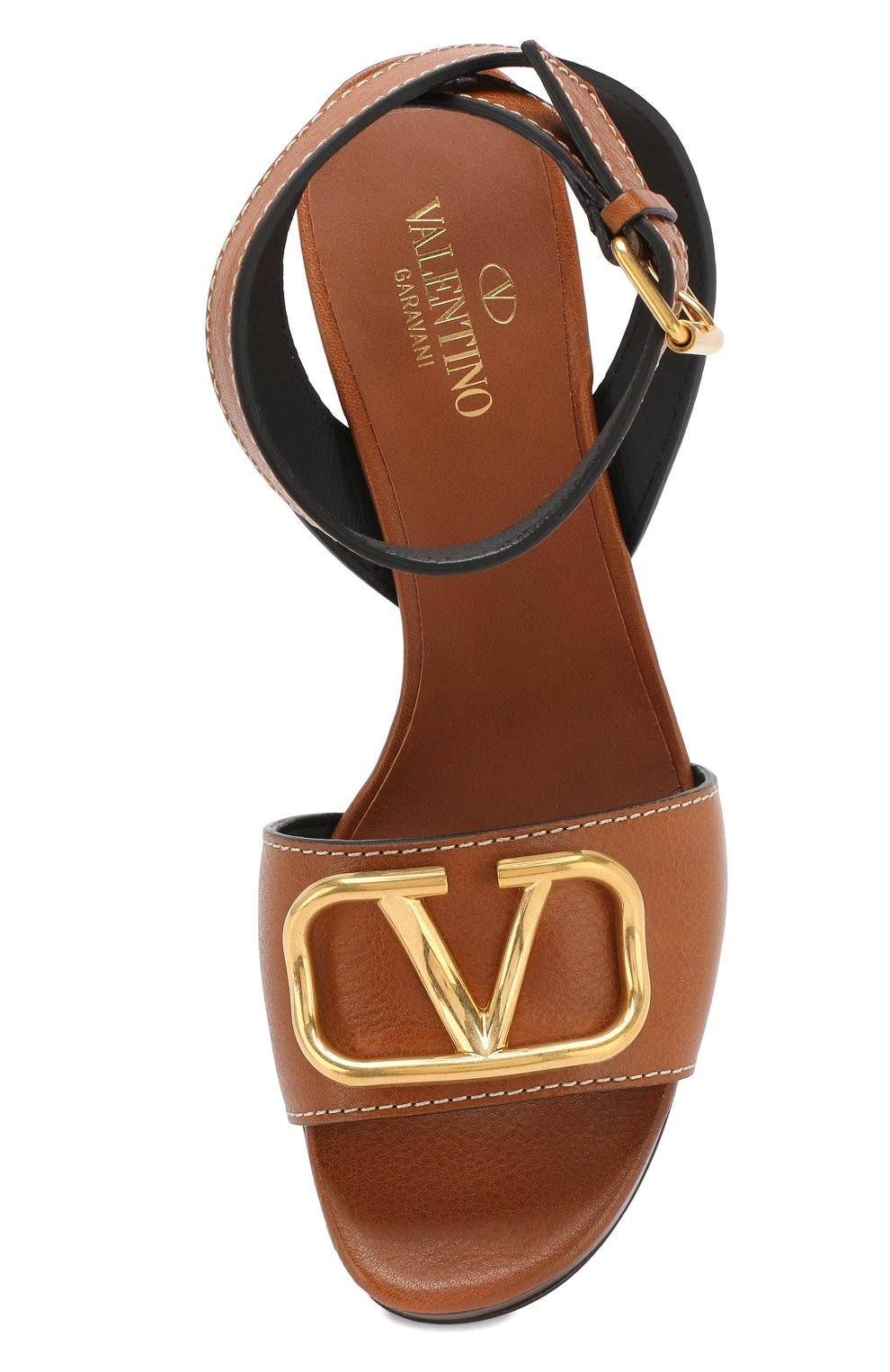 Босоножки Valentino Garavani Go Logo Valentino коричневые | Фото №5