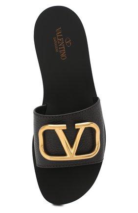 Женские кожаные шлепанцы valentino garavani go logo VALENTINO черного цвета, арт. RW0S0M21/HWS | Фото 5