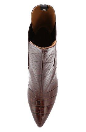 Женские кожаные ботильоны wave  CHLOÉ коричневого цвета, арт. CHC19U17602 | Фото 5