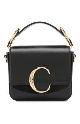 Женская сумка chloé c mini CHLOÉ черного цвета, арт. CHC19US193A37 | Фото 1