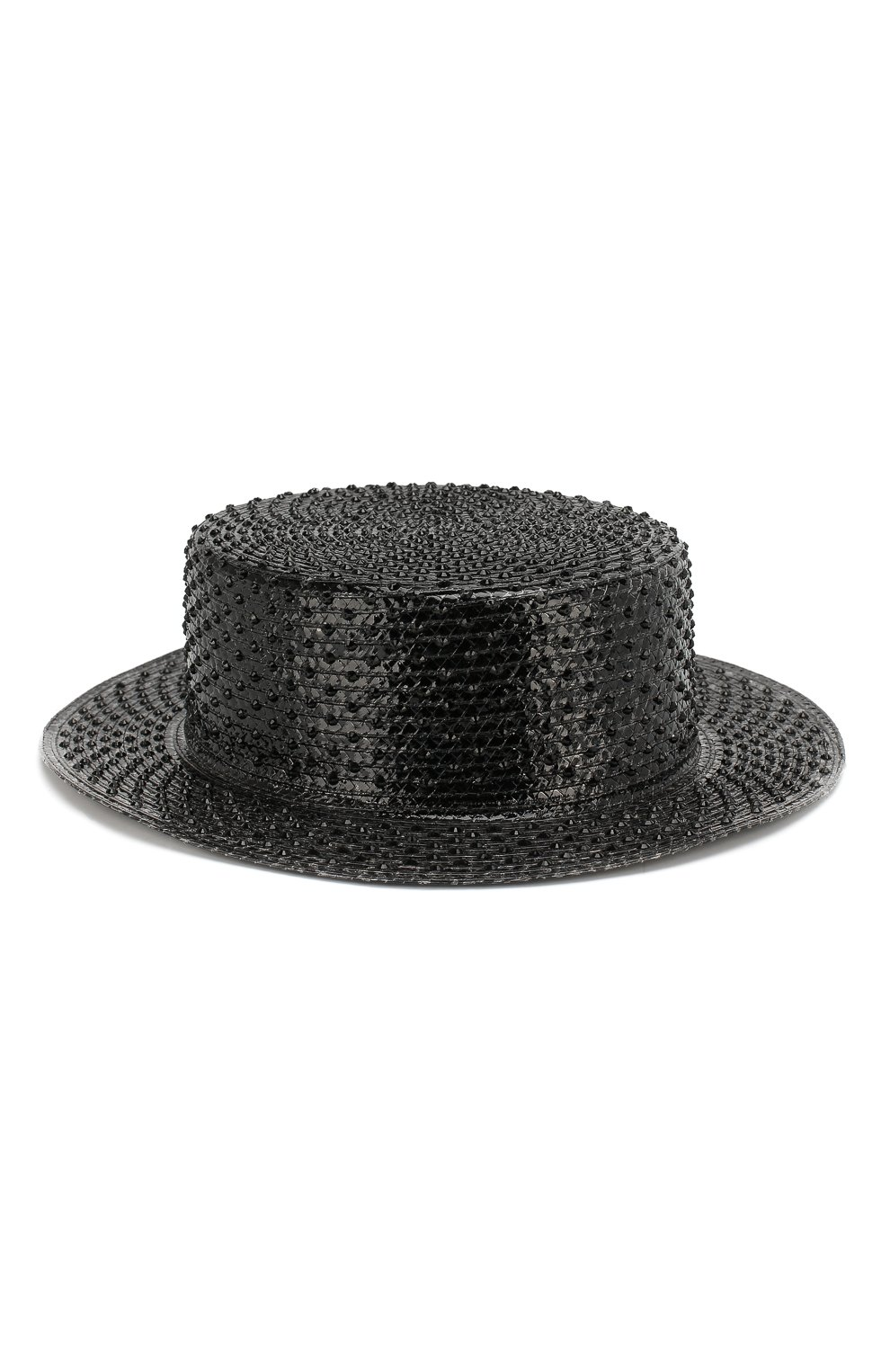 Шляпа-канотье Saint Laurent черного цвета | Фото №2