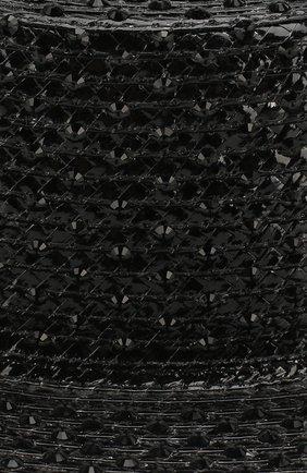 Шляпа-канотье Saint Laurent черного цвета | Фото №3