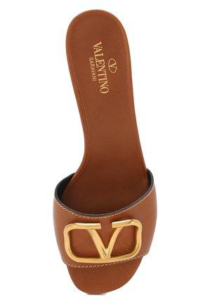 Кожаные мюли Valentino Garavani Go Logo   Фото №5