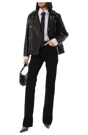 Женская кожаная куртка MASLOV черного цвета, арт. SMW101 | Фото 2