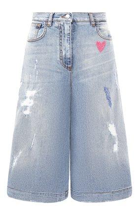 Женские укороченные джинсы DOLCE & GABBANA голубого цвета, арт. FTBFXZ/G8Z59 | Фото 1