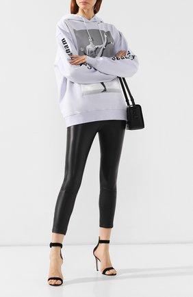 Женские кожаные леггинсы SPRWMN черного цвета, арт. CAP-009-L/L0G0 CAPRI LEGGING | Фото 2