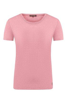 Женская льняная футболка LORO PIANA розового цвета, арт. FAD5396   Фото 1