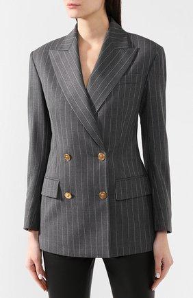Шерстяной жакет Versace серый   Фото №3