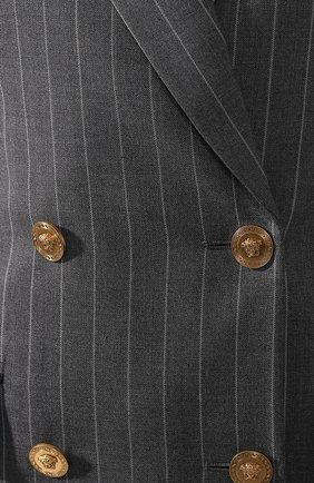 Шерстяной жакет Versace серый   Фото №5