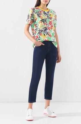 Женские джинсы прямого кроя AG синего цвета, арт. ADM1575/BRVR | Фото 2