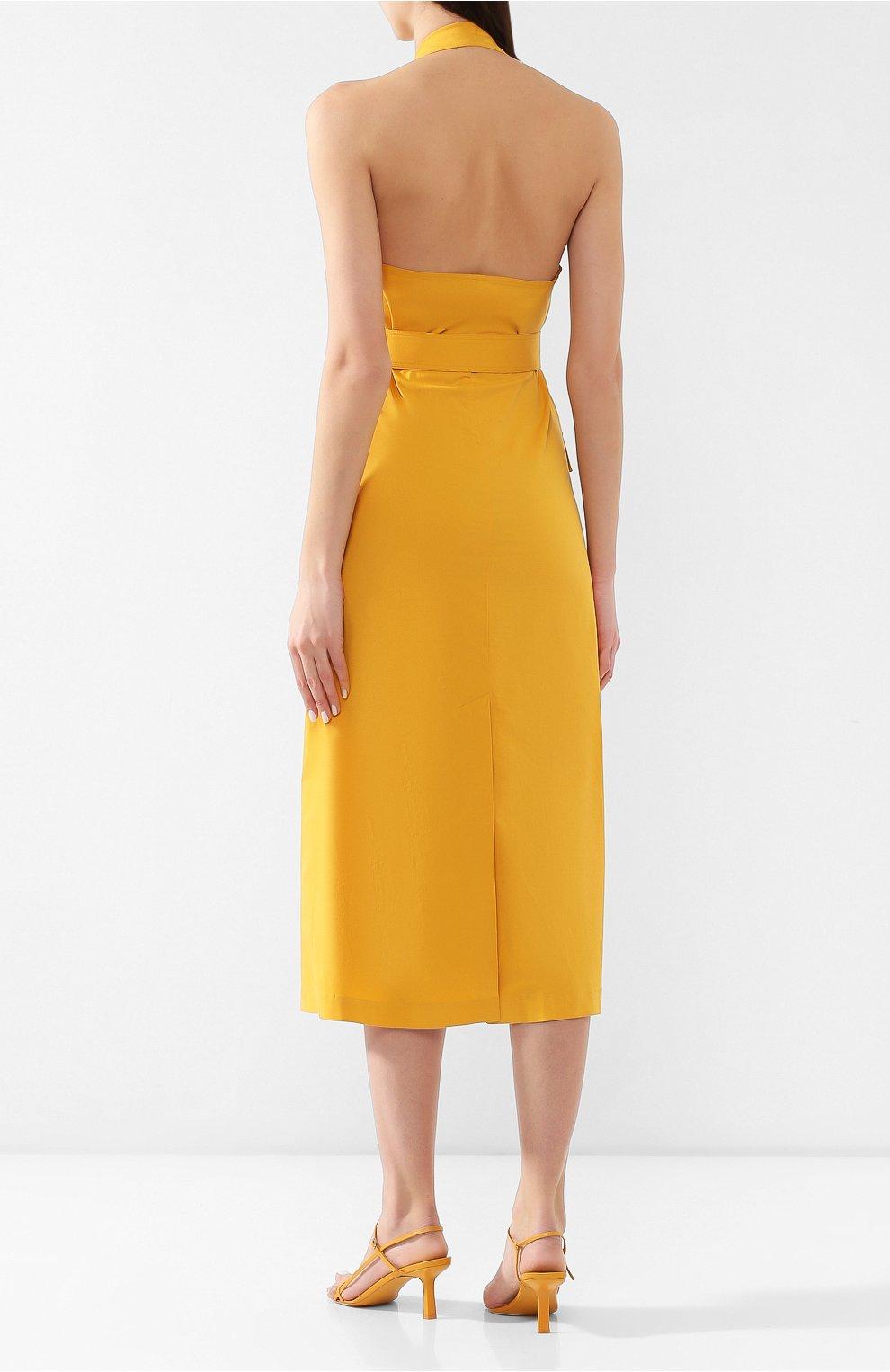 Хлопковое платье Loro Piana желтое   Фото №4