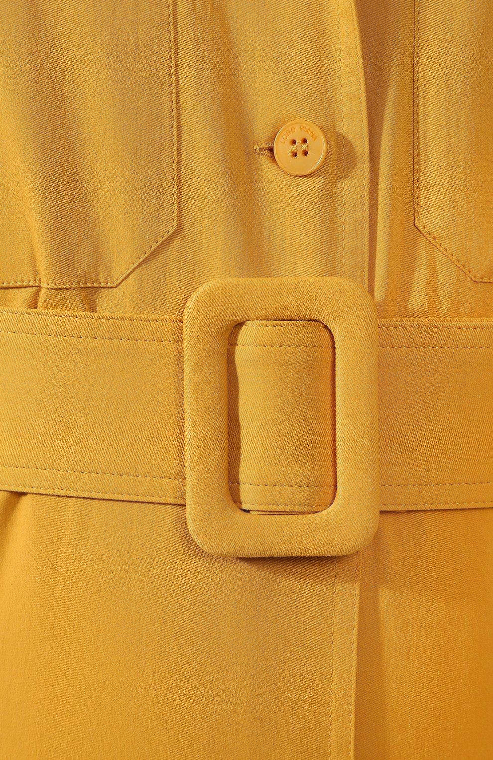 Хлопковое платье Loro Piana желтое   Фото №5