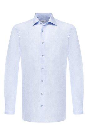 Мужская рубашка из смеси шелка и хлопка ZILLI голубого цвета, арт. MFR-MERCU-84080/RZ01 | Фото 1