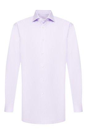 Мужская хлопковая сорочка с воротником кент BRIONI сиреневого цвета, арт. RCL815/P806H | Фото 1