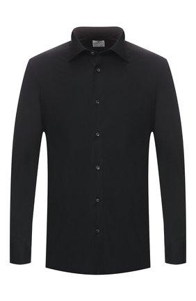 Мужская хлопковая сорочка LUIGI BORRELLI черного цвета, арт. EV08/LUCIAN0/TS10715 | Фото 1