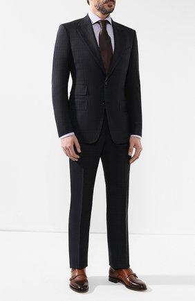 Мужской шерстяной костюм TOM FORD темно-синего цвета, арт. 545R06/21AA43 | Фото 1
