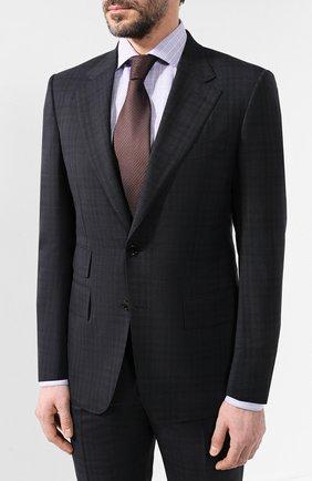 Мужской шерстяной костюм TOM FORD темно-синего цвета, арт. 545R06/21AA43 | Фото 2