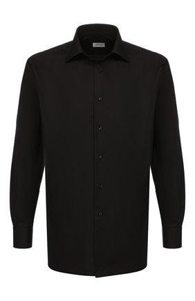 Мужская хлопковая сорочка BRIONI черного цвета, арт. RCLU4H/PZ016 | Фото 1